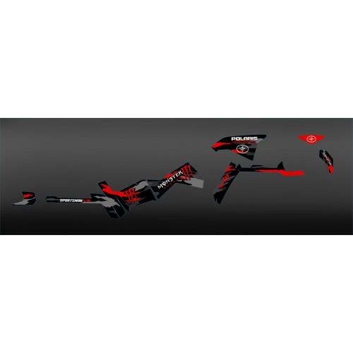 Kit de decoració 100% meu Propi Monstre (en Vermell) a la Llum IDgrafix - Polaris 570 Esportista -idgrafix