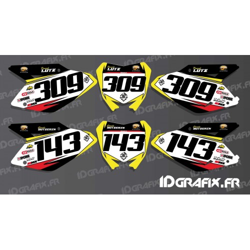 Kit deco número de Placa para Suzuki RM/RMZ -idgrafix