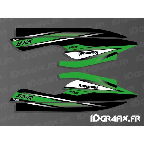 Kit de decoración de Réplica de 2010 para Kawasaki 800 SXR -idgrafix