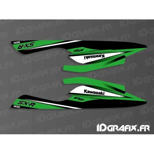 Kit décoration Réplica 2010 pour Kawasaki SXR 800 SS sous coque-idgrafix