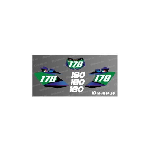 Kit deco 100 % Personalizzato Numero di Targa WRF + numero di partita -idgrafix