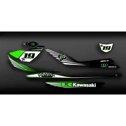 photo du kit décoration - Kit décoration 100% Perso Monster Light pour Kawasaki Ultra