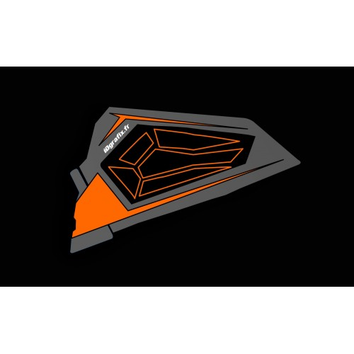 Kit décoration Porte Basse Origine Polaris Titanium - IDgrafix - Polaris RZR 900/1000-idgrafix