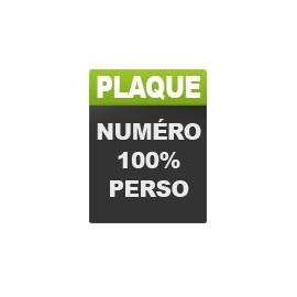 Plaque Numéro