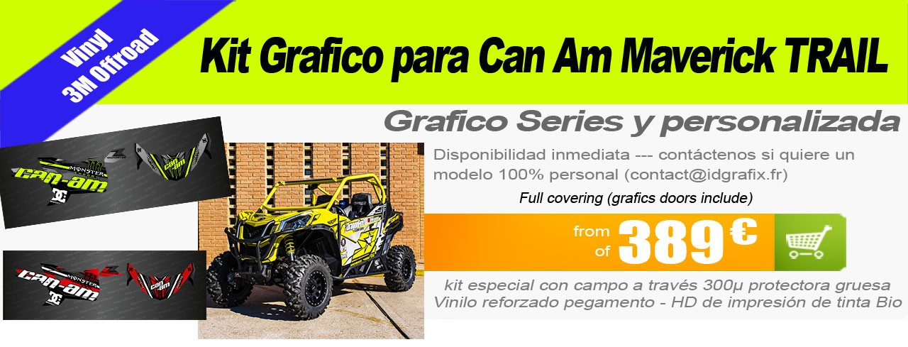 Kit grafico para Buggy Can Am Maverick Trail
