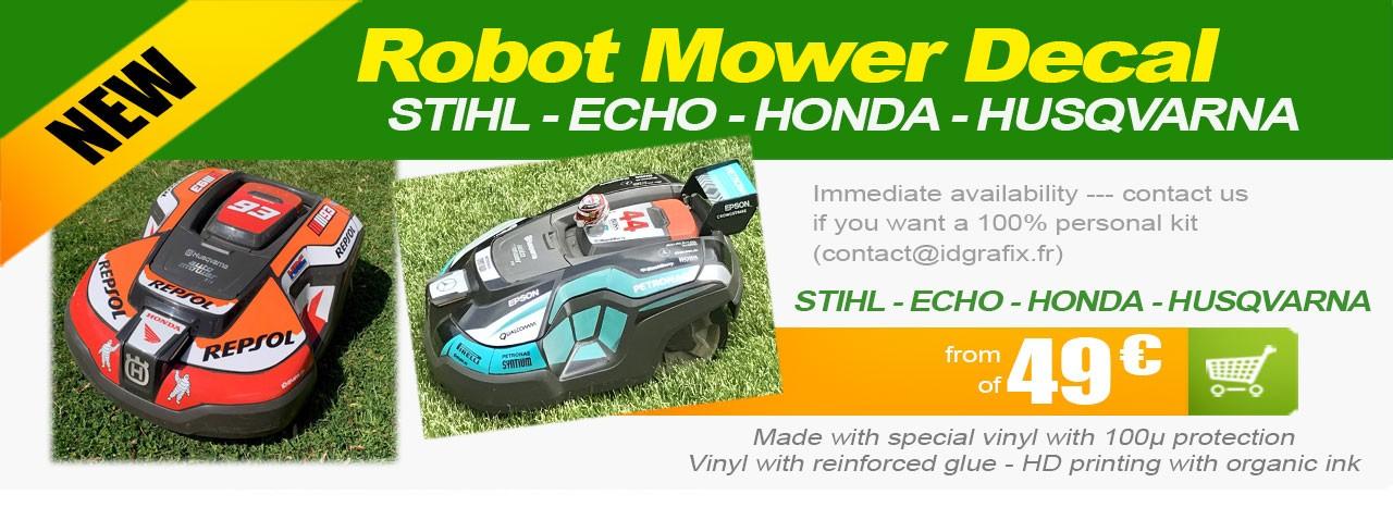sticker robot mower
