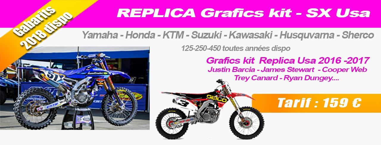 Kit Motorrad Dekoration