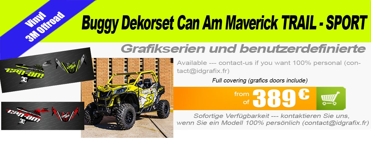 Dekorationsset für Can Trail Maverick